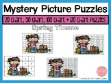 Spring 20, 50, 100 & 120 Chart Mystery Picture Puzzles