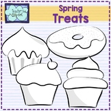Spring treats Clip art  - Cupcakes and donuts