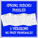Spring vocabulary sudoku puzzles
