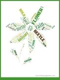 Spring vocabulary word cloud