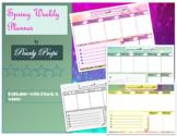 Spring weekly planner  PDF