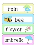 Spring word wall