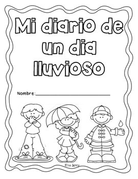 Spanish Rainy Day Writing Prompts Journal