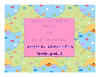 Spring writing activity and bulletin board idea