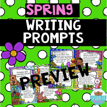Spring writing prompts FREEBIE preview