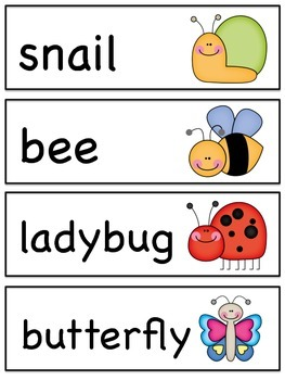Spring Vocabulary - Word Ring & Word Wall