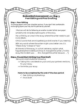 SpringBoard: 6th Grade ELA- EA1U1 Guide/Checklist