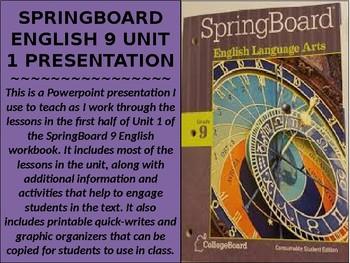 SpringBoard English 9 Unit 1 Presentation