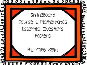 SpringBoard Course 2 Essential Questions Doodle Frame