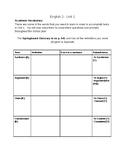 SpringBoard ELA - Grade 10 - Unit 1 - Academic Vocabulary