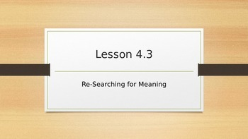 SpringBoard Grade 11 Lesson 4.3: Re-Searching (Transcendentalism)