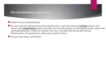 SpringBoard Grade 11: Lessons 5.2 and 5.3