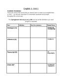 SpringBoard - Grade 9 - Unit 1 - Academic Vocabulary and L