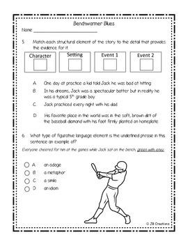 Spring/EOY PARCC Test Prep Pack for 4th Grade Literature