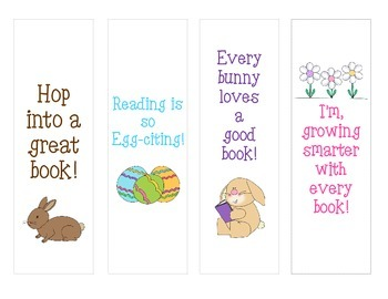 Spring/Easter Bookmarks for your students!