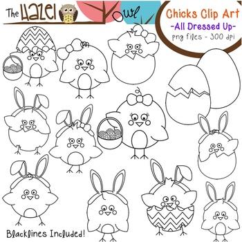 Spring/Easter Chicks & Eggs All Dressed Up: Clip Art Graphics for Teachers