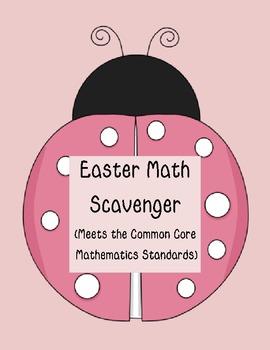 Spring/Easter Common Core Math Scavenger Hunt