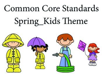 SpringKidskida 1st grade English Common core standards posters