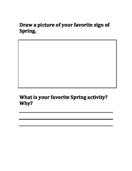 Spring/My Five Senses
