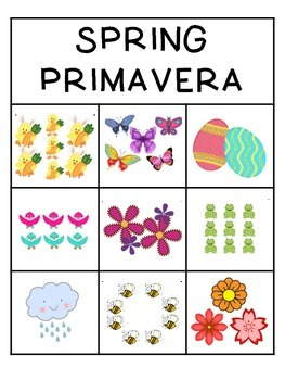 Spring/Primavera Bilingual Math Resource