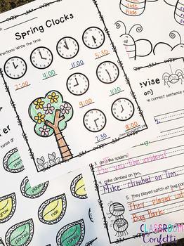Spring Printables [Math and Language Arts]