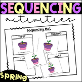Distance Learning Sequencing Activities and Centers- Sprin