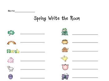 Spring/Weather Write the Room