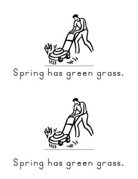 Spring....a differentiated book for Kindergarten.  Hfw:  has, no, green