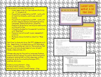 Springboard - 7th Grade ELA - Activity 1.6