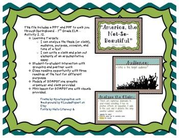 Springboard - 7th Grade ELA - Activity 2.12