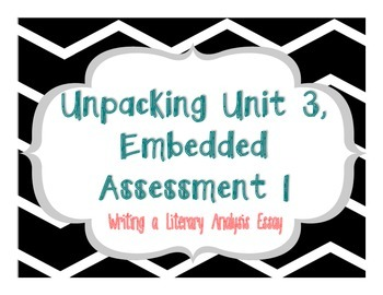 Springboard - 7th Grade ELA - Activity 3.1 (Unpacking Embedded Assessment 1)