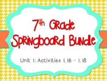 Springboard - 7th Grade ELA - BUNDLE - Activities 1.16 - 1.18