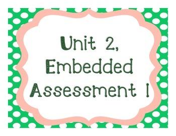 Springboard - 7th Grade ELA - Unit 2, Embedded Assessment 1