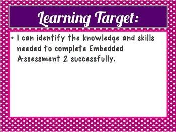 Springboard - 7th Grade ELA - Unpacking Unit 2, Embedded Assessment 2