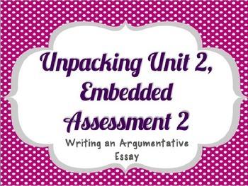 Springboard - 7th Grade ELA - Unpacking Unit 2, Embedded A
