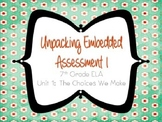 Springboard - 7th Grade ELA - Unpacking the Embedded Asses