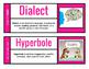 Springboard Unit 4 Vocabulary Word Wall 2.0