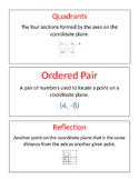 Springboard Vocabulary Words-Grade 6 Unit 2 Math