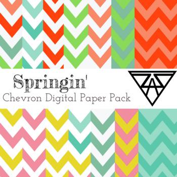 Springin' Digital Paper Pack