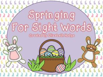Springing For Sight Words- Scott Foresman Kindergarten and Fry List