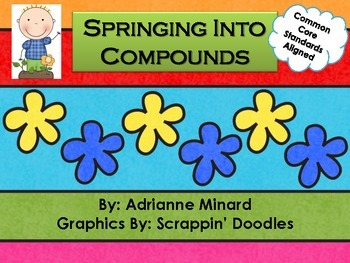 Springing Into Compound Words Scoot for First, Second, or Third Grade