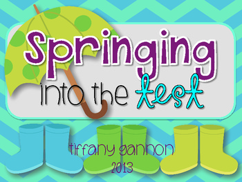 Springing Into the Test Centers {Test Prep Math and Literacy Centers}