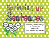 Springing Up Sentences! (Working with scrambled sentences and sight words!)