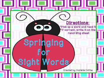 Springing for Sight Words (100 Fry words)-Differentiated