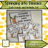 Division Practice: Task Cards and Worksheets