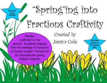 """Spring""ing into Fractions: Fraction Flowers Craftivity"