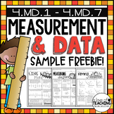 Math Test Prep Review: Measurement, Angles, Line Plots, Area and Perimeter