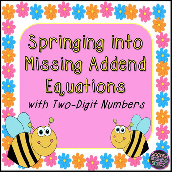 Missing Addend Equations with Two-Digit Numbers Task Cards