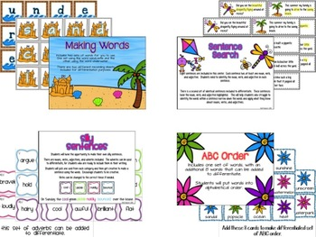 Springing into Summer Literacy Centers {w/built in differentiation}