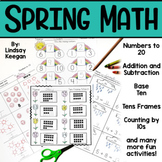 Spring Math Worksheets - Addition, Subtraction + Numbers